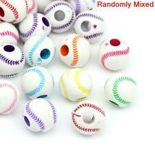 50 MIXED TENNIS BALL COLOURFUL BEADS 12MM + FAST FREE SHIPPING