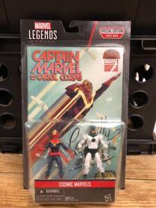 CAPTAIN MARVEL Carol Danvers ACTION FIGURES & COMIC BOOK MARVEL LEGENDS