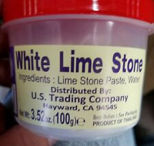 Lime Stone Paste (White-Red /Chaux Blang)-3.5oz 3 Choices U pick only 1