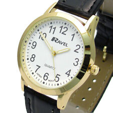 Ravel Ladies Super-Clear Easy Read Quartz Watch Black Face R0130.01.2