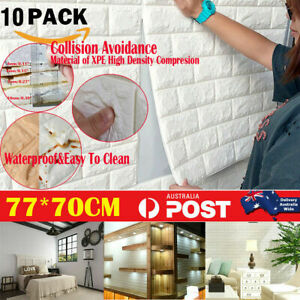 20PCS 3D Wall Paper Panel Brick Stickers Mural Marble Adhesive DIY 77*70CM Decal