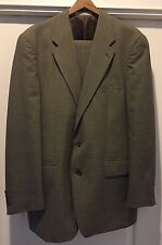 Ralph Lauren Chaps Houndstooth Plaid Suit - Size 38R - Made In Canada