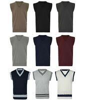 Mens V Neck Golf Cricket Bowling Sleeveless Jumper Tank Top Vest Sweater S - 5XL