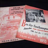 Ephemera Bon Air Richmond Virginia 1950s volunteer fire dept yearbook