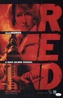 Helen Mirren Signed THE QUEEN 11X17 Photo RED In Person Autograph JSA COA Cert