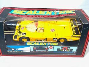 Very Rare Vintage Boxed Scalextric Porsche 962 Slot Car, Scalextric C272 Model