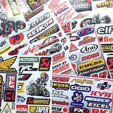 4 x Random Mixed Sheets Sticker Decal ATV Bike Racing Helmet Motorcross Dirt BMX