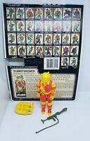 Hasbro Gi Joe BlowTorch Action Figure 1984 Vintage 80'S Complete Full Card Wow