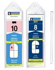 """8 Pack of Cruise Ship Luggage Tags (Narrow) with 6"""" Loops for Royal Caribbean an"""