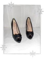 Chaussures  Escarpins  Noirs Bouts Ouverts La Bottine Souriante  Pointure 39