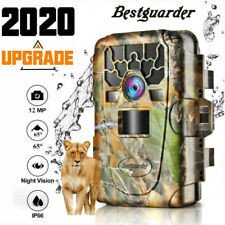 12MP Trail Camera IP66 Waterproof Outdoor Hunting Cam with IR Led Night Vision