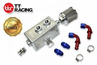 1L OIL CATCH CAN TANK KIT BAFFLED HOLDEN COMMODORE W/ FITTINGS - SILVER