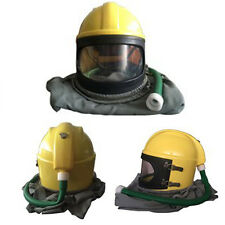 AIR FED Safety Sandblast Helmet Sand Blast Hood Protector Sandblasting US Ship