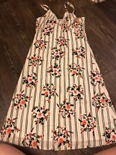 Split Dress Size Medium Floral Mid Calf Dress Summer