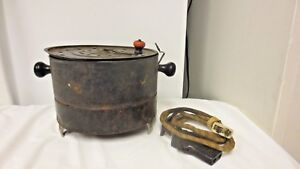 Vintage Electric Metal Popcorn Popper with Top Crank