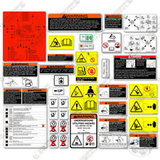 Kubota Skid Steer Safety Stickers  For The SVL Series Track Loaders