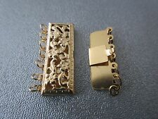 14K Gold Filled 7 Strand Rectangle Filigree Box Clasp 1pc
