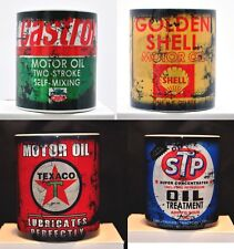 Set Of 4 Retro Vintage Oil Can Mug Motorcycle Oil Can Mechanic Tea Coffee Mug