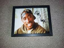 "TUPAC SHAKUR PP SIGNED & FRAMED 10""X8"" INCH PHOTO REPRO RAPPER HIP HOP 2PAC"