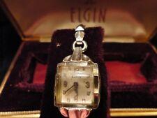 Elgin Ladies Wrist Watch Wind Up Missing Stem 17 Jewel in Case & Box 10k Vintage