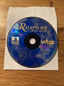 Rhapsody: A Musical Adventure (Sony PlayStation 1, 2000) DISC ONLY - NOT WORKING