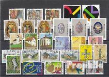 Liechtenstein gestempelt 2001 kompletter Jahrgang in sauberer Erhaltung
