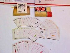 Vintage 1943 Parker Brother Rook Card Game with Instruction Booklet