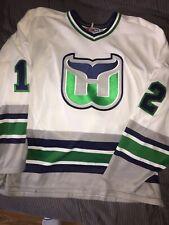 Vintage CCM Steven Rice Hartford Whalers Jersey Size XL NHL Hockey #12