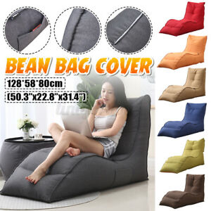 Back Support Lazy Bean Sofa Bag Leisure Lounger Seat Couch Cover witho