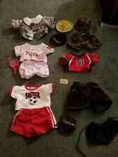 Build A Bear Clothes Army, Phillies, Soccer Lot of 15 pieces