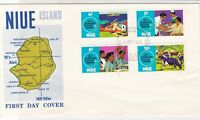 NIUE Island 1972 25th Anniv. South Pacific Commision Stamps FDC Cover Ref 28567