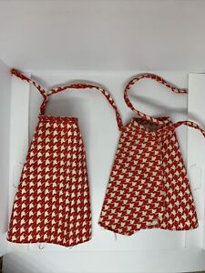 VTG 1975 Mattel GROWING UP SKIPPER/GINGER clothes: RED CHECKED SKIRT WRAP ONLY
