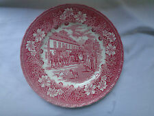 Staffordshire Royal Tudor Ware Coaching Taverns Hand Engraved Dinner Plate