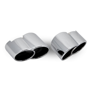 Porsche 911 996 Turbo & GT2 Direct Fit Stainless Steel Clamp On Tailpipes