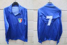 VINTAGE Maillot ITALIE n°7 ITALIA maglia 80's shirt trikot oldschool M calcio