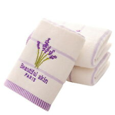 1PC Aromatherapy Bath Towel Embroidery Lavender Towel Cotton Hand Face Towels