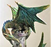 Medieval Dragon Wizard Castle Sculpture Statue Dracula Gothic Knight Fantasy Art