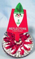 8 Foil Christmas Light Reflectors Blue Red Silver Gold Flowers Vintage #3