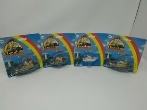 Lot Of 4 Ertl Theodore Tugboat  Metal Tugboats - George / Emily /  Hank / Carla