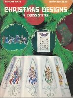 Christmas Designs Cross Stitch Pattern Booklet 1978 Leisure Arts 128 Stockings