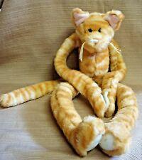 "18"" Plush ""Hugging"" Yellow Striped Kitty Cat"