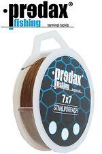 (2,50€/1m) Predax Fishing Stahlvorfach 7x7 braun 6kg 10m Spule, Hechtvorfach