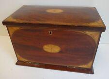Outstanding inlaid mahogany Sheraton style writing box & fall down front c.1900