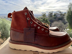 Red Wing x Todd Snyder 4314 Mic Toe Cooper Boots Size 9.5D