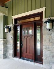 ALPINE STYLE KNOTTY ALDER SHAKER ENRTY DOOR  WITH SIDE LITES 3068