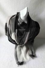 Shades of Grey Wool & Silk Scarf  (Price Reduced)