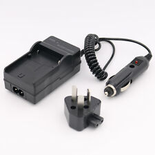AC+DC Wall+Car Battery Charger For Sony NP-FH50 NP-FH40 NP-FH70 NP-FH90 NP-FH100