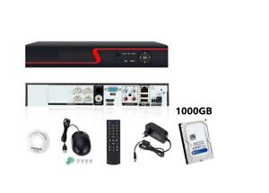 DVR NVR IBRIDO NVR HVR AHD TVI CVI 4 CH CANALI FULL HD IP CLOUD 3G WIFI+HARD DIS