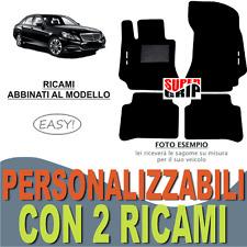 PER MERCEDES CLASSE E W212 TAPPETI AUTO MOQUETTE E FONDO GOMMA + 2 RICAMI EASY