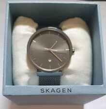 Skagen Mens Analogue Watch Ancher Titanium and Steel-Mesh Strap-SKW6432 RRP £179